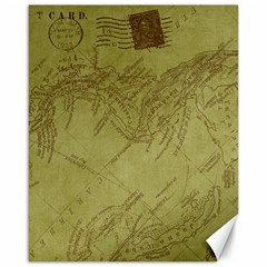 Vintage Map Background Paper Canvas 16  X 20