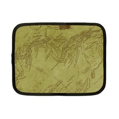 Vintage Map Background Paper Netbook Case (small)