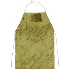 Vintage Map Background Paper Full Print Aprons