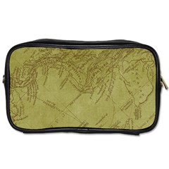 Vintage Map Background Paper Toiletries Bags 2 Side