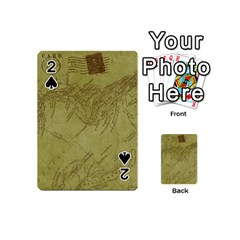 Vintage Map Background Paper Playing Cards 54 (mini)