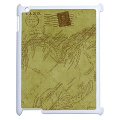 Vintage Map Background Paper Apple Ipad 2 Case (white)