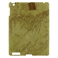 Vintage Map Background Paper Apple Ipad 3/4 Hardshell Case