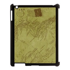 Vintage Map Background Paper Apple Ipad 3/4 Case (black)
