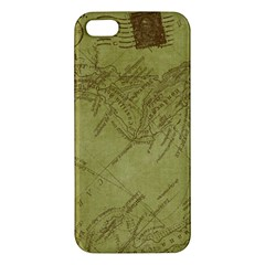 Vintage Map Background Paper Iphone 5s/ Se Premium Hardshell Case