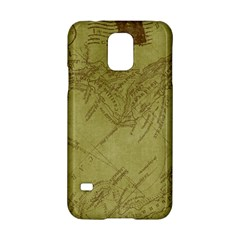 Vintage Map Background Paper Samsung Galaxy S5 Hardshell Case