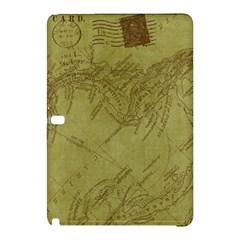 Vintage Map Background Paper Samsung Galaxy Tab Pro 12 2 Hardshell Case