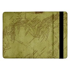 Vintage Map Background Paper Samsung Galaxy Tab Pro 12 2  Flip Case by Nexatart