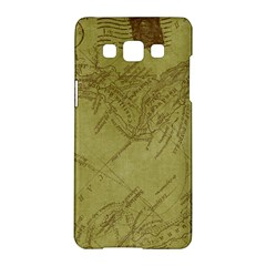 Vintage Map Background Paper Samsung Galaxy A5 Hardshell Case