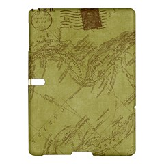 Vintage Map Background Paper Samsung Galaxy Tab S (10 5 ) Hardshell Case