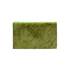 Vintage Map Background Paper Cosmetic Bag (xs)