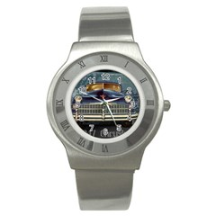 Vintage Car Automobile Stainless Steel Watch