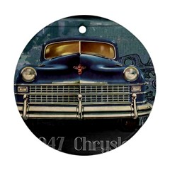 Vintage Car Automobile Round Ornament (two Sides)