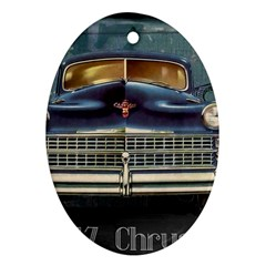 Vintage Car Automobile Oval Ornament (two Sides)