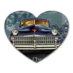 Vintage Car Automobile Heart Mousepads