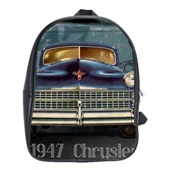 Vintage Car Automobile School Bag (large)
