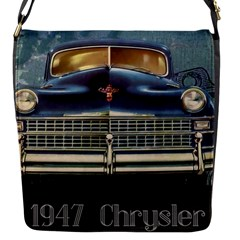 Vintage Car Automobile Flap Messenger Bag (s) by Nexatart