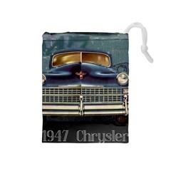 Vintage Car Automobile Drawstring Pouches (medium)