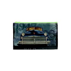Vintage Car Automobile Cosmetic Bag (xs) by Nexatart