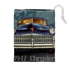 Vintage Car Automobile Drawstring Pouches (extra Large)