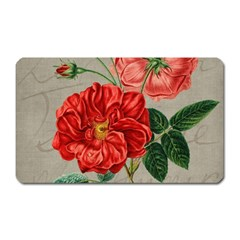 Flower Floral Background Red Rose Magnet (rectangular)