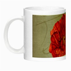Flower Floral Background Red Rose Night Luminous Mugs