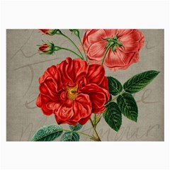 Flower Floral Background Red Rose Large Glasses Cloth