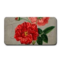 Flower Floral Background Red Rose Medium Bar Mats