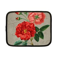 Flower Floral Background Red Rose Netbook Case (small)