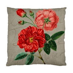 Flower Floral Background Red Rose Standard Cushion Case (two Sides)