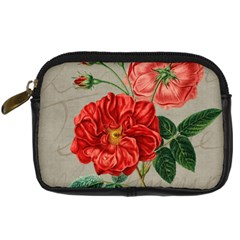 Flower Floral Background Red Rose Digital Camera Cases