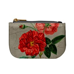 Flower Floral Background Red Rose Mini Coin Purses