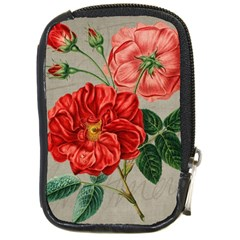 Flower Floral Background Red Rose Compact Camera Cases
