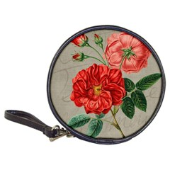 Flower Floral Background Red Rose Classic 20 Cd Wallets by Nexatart