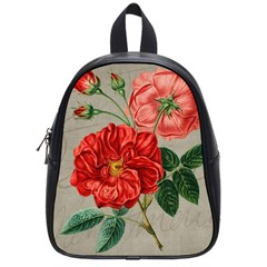Flower Floral Background Red Rose School Bag (small)