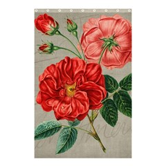 Flower Floral Background Red Rose Shower Curtain 48  X 72  (small)