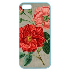 Flower Floral Background Red Rose Apple Seamless Iphone 5 Case (color)