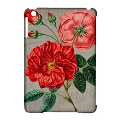 Flower Floral Background Red Rose Apple Ipad Mini Hardshell Case (compatible With Smart Cover)