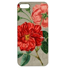 Flower Floral Background Red Rose Apple Iphone 5 Hardshell Case With Stand