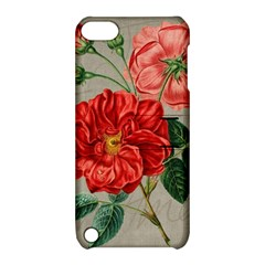 Flower Floral Background Red Rose Apple Ipod Touch 5 Hardshell Case With Stand