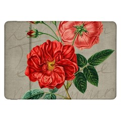 Flower Floral Background Red Rose Samsung Galaxy Tab 8 9  P7300 Flip Case