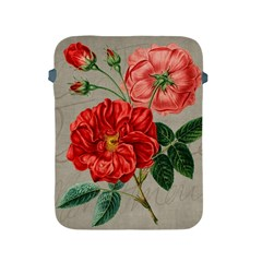 Flower Floral Background Red Rose Apple Ipad 2/3/4 Protective Soft Cases by Nexatart