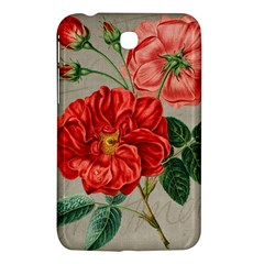 Flower Floral Background Red Rose Samsung Galaxy Tab 3 (7 ) P3200 Hardshell Case