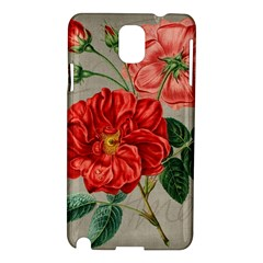 Flower Floral Background Red Rose Samsung Galaxy Note 3 N9005 Hardshell Case