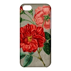 Flower Floral Background Red Rose Apple Iphone 5c Hardshell Case by Nexatart