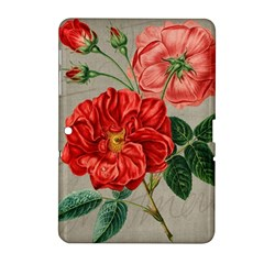 Flower Floral Background Red Rose Samsung Galaxy Tab 2 (10 1 ) P5100 Hardshell Case