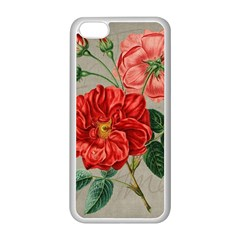 Flower Floral Background Red Rose Apple Iphone 5c Seamless Case (white)