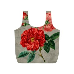 Flower Floral Background Red Rose Full Print Recycle Bags (s)  by Nexatart