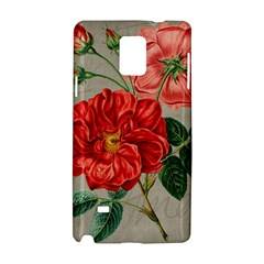 Flower Floral Background Red Rose Samsung Galaxy Note 4 Hardshell Case
