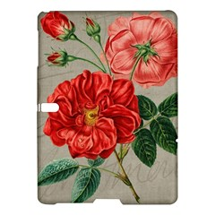 Flower Floral Background Red Rose Samsung Galaxy Tab S (10 5 ) Hardshell Case
